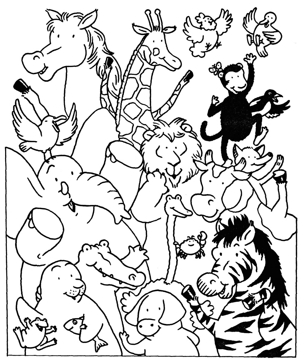 Coloriages à imprimer : Animaux, numéro : 16250