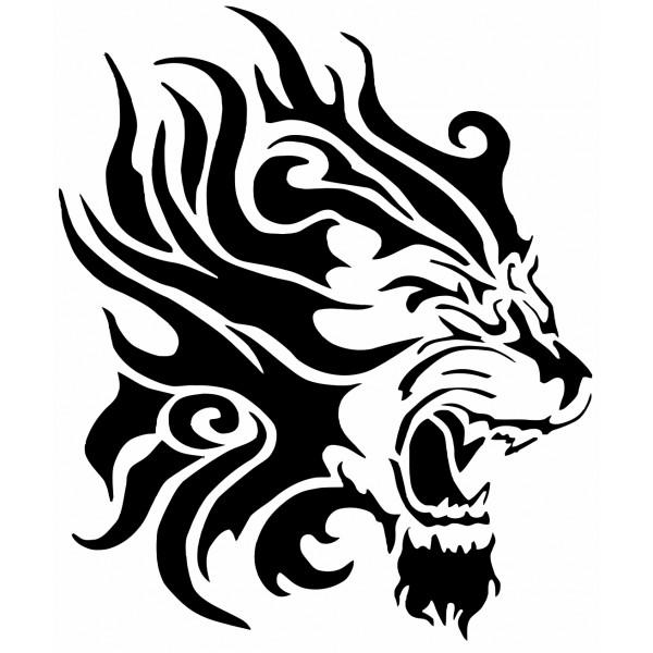 Coloriages imprimer lion num ro 23921 - Tete de lion tatouage ...