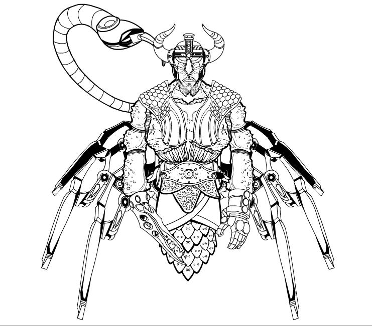 Coloriages à imprimer : Scorpion, numéro : 65570