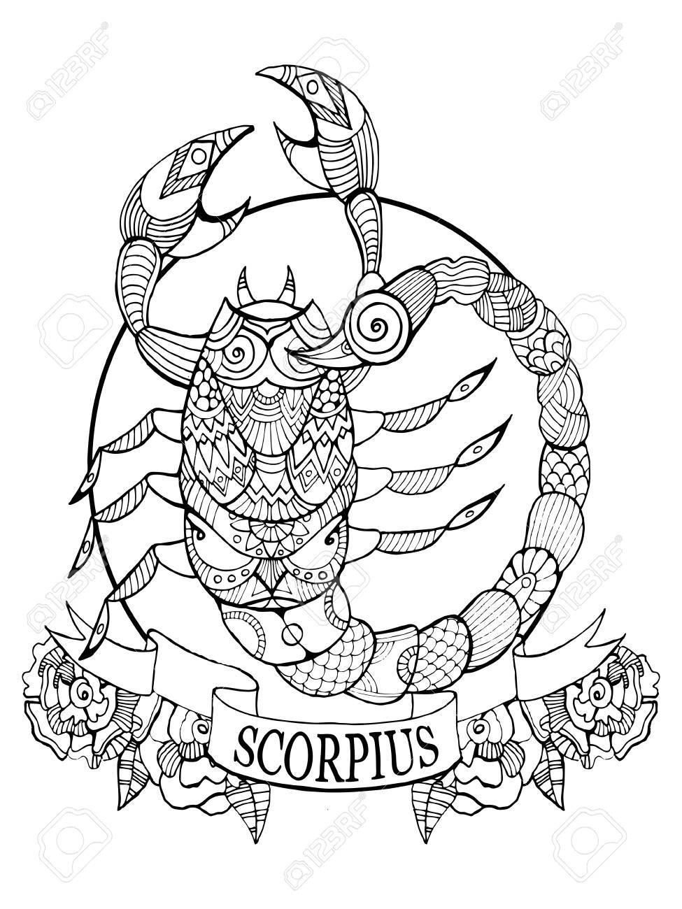 Coloriages à imprimer : Scorpion, numéro : 9e155041
