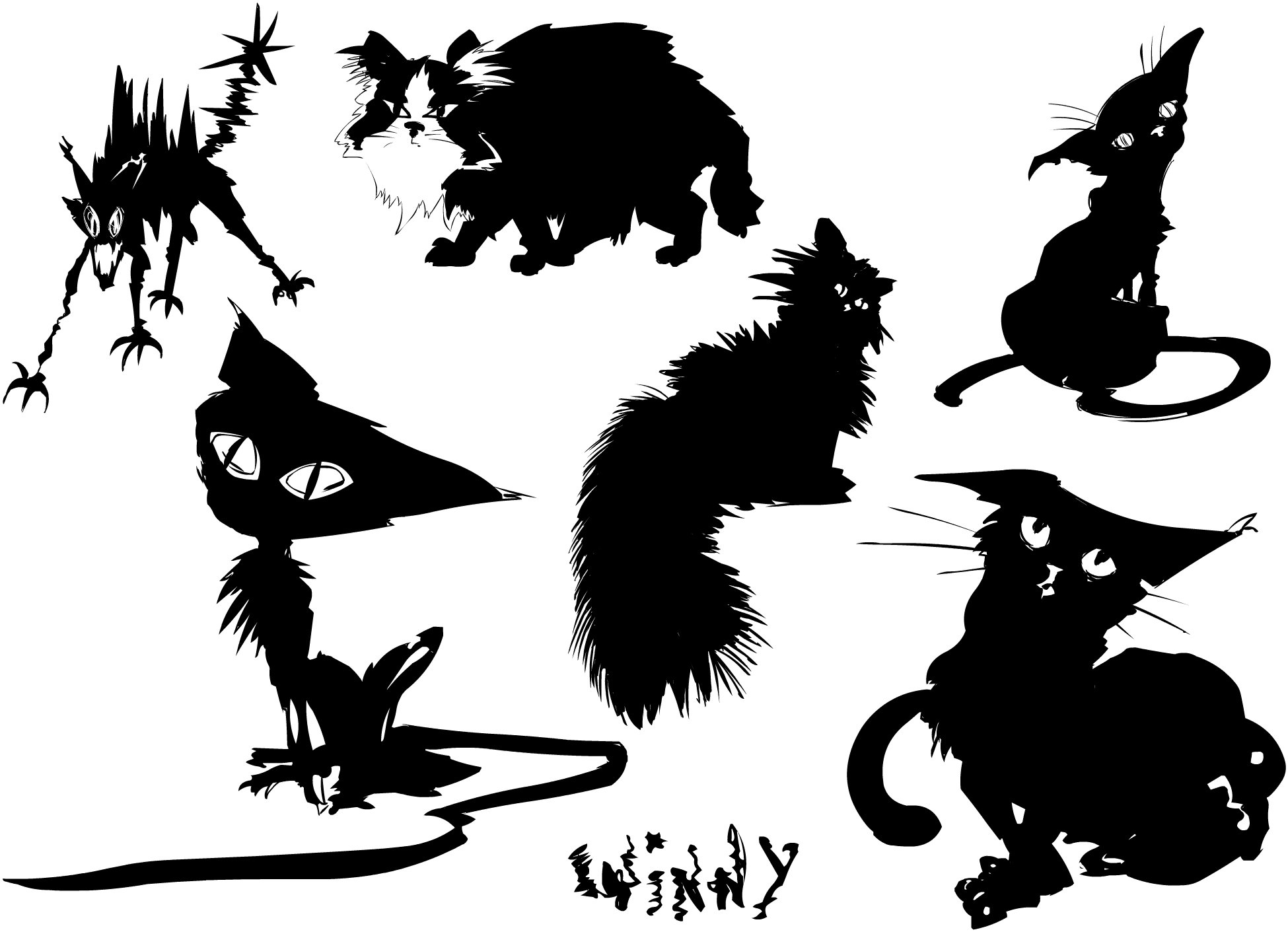 Dessin tatouage chat awesome tatouage chat with dessin tatouage chat best silhouette chat - Tatouage silhouette chat ...
