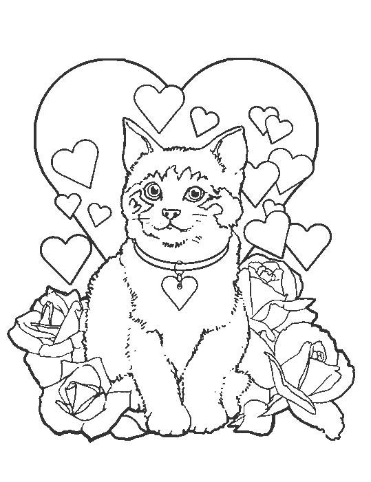 Coloriages à imprimer : Chat, numéro : 18131