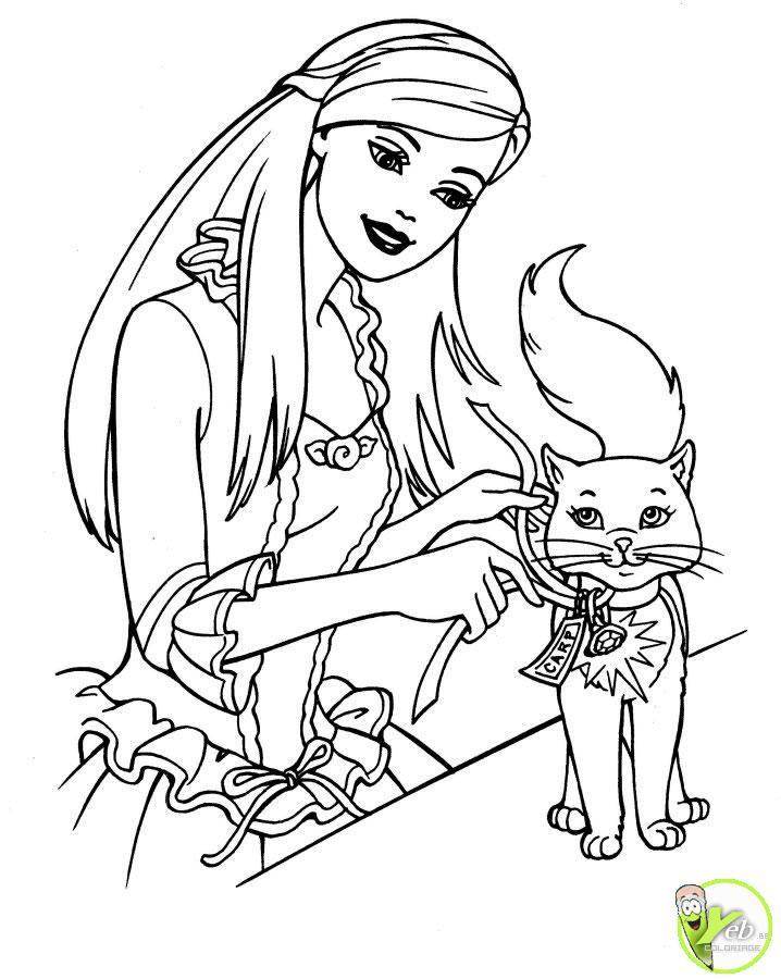 Dessins en couleurs imprimer chat num ro 18953 - Le chat de barbie ...