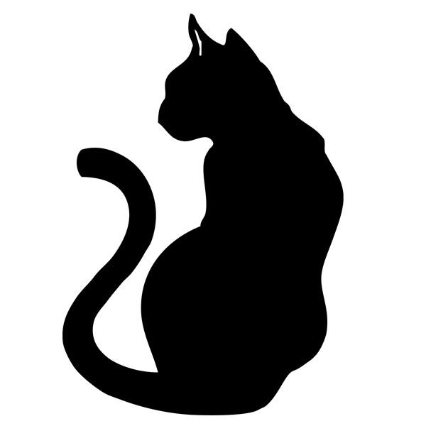 Pochoirs Gratuits Animaux Tabby Cat Cartoon Drawing