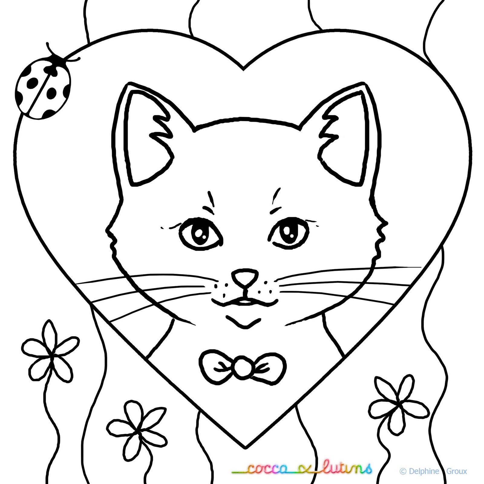 Coloriages à imprimer : Chat, numéro : 50b21345