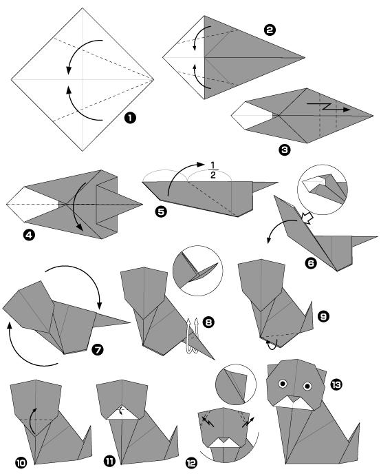 Coloriages imprimer chat num ro 61415 - Origami facile a faire animaux ...