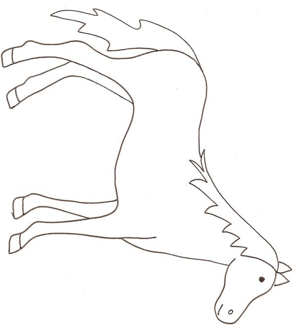Dessins en couleurs imprimer cheval num ro 117610 - Dessin facile de cheval ...