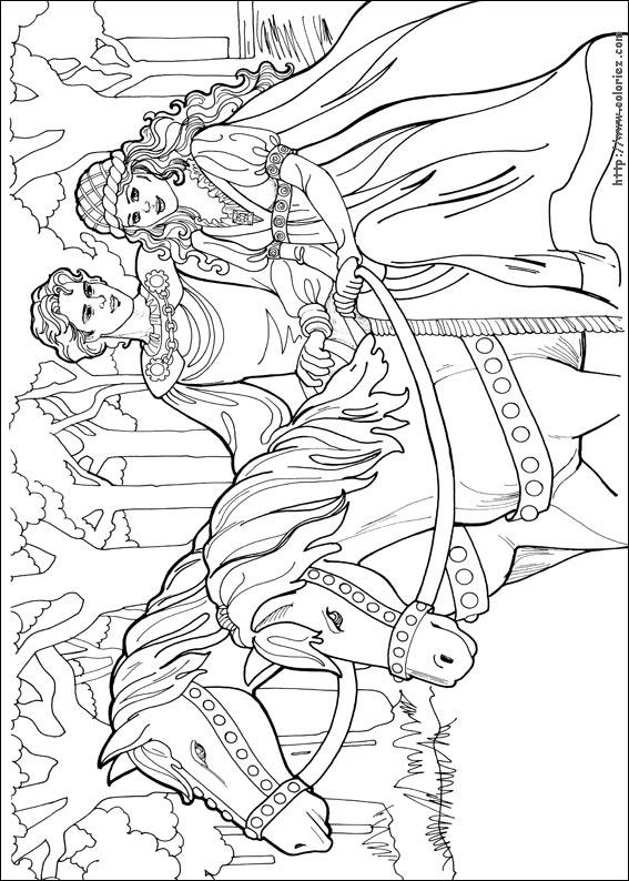 Coloriage Cheval Et Princesse A Imprimer.Coloriages A Imprimer Cheval Numero 13664