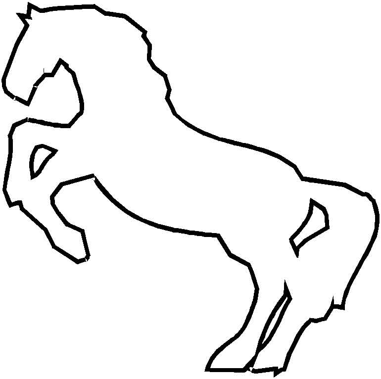 coloriages imprimer cheval num ro 16960. Black Bedroom Furniture Sets. Home Design Ideas
