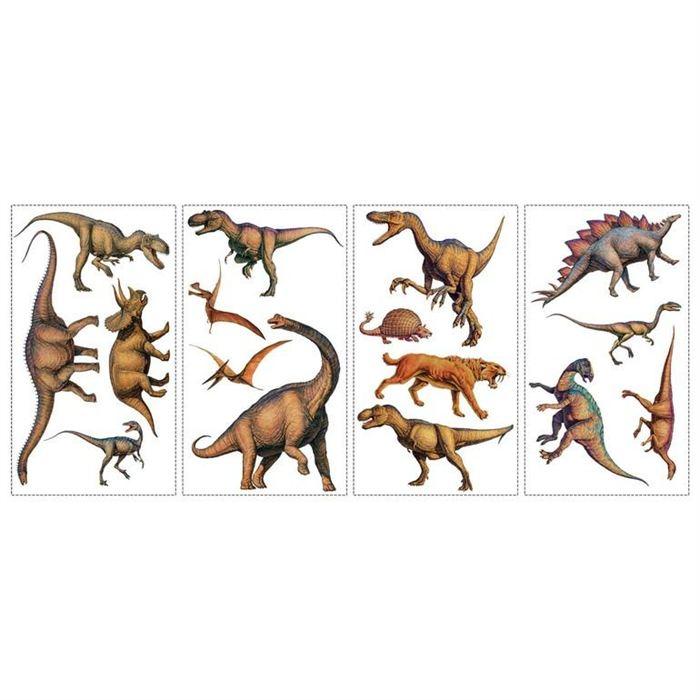 Dessin en couleurs imprimer animaux dinosaures for Autocollant mural walmart