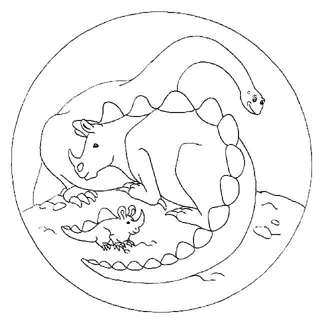 Coloriages à imprimer : Dinosaures, numéro : 209553