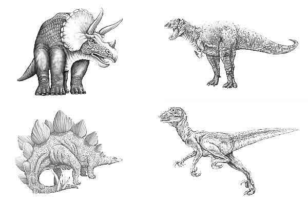 Coloriages à imprimer : Dinosaures, numéro : 215349