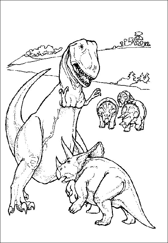 Coloriages à imprimer : Dinosaures, numéro : 261655