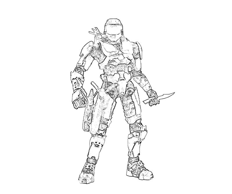 Halo free colouring pages for Halo 3 coloring pages