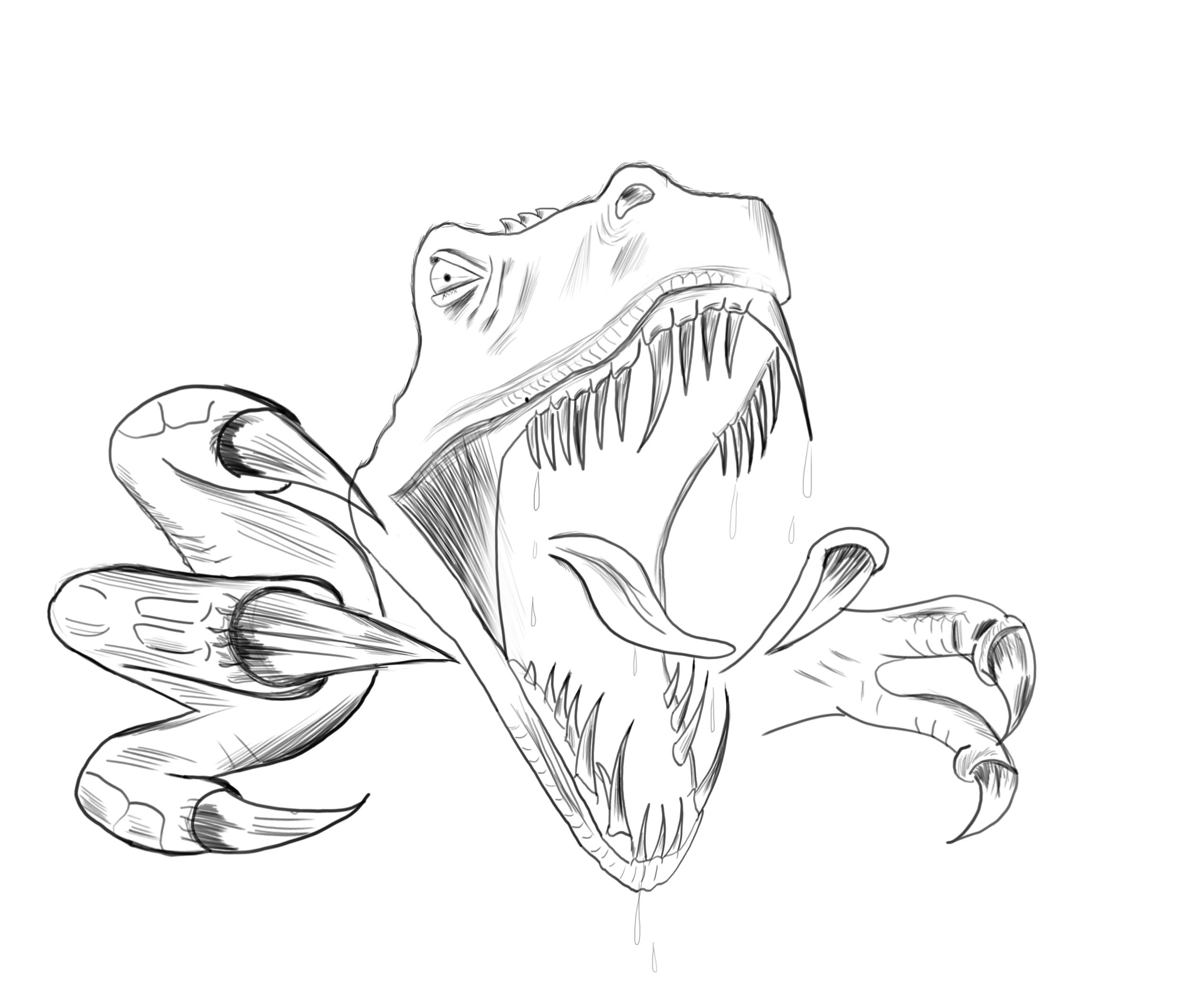 Coloriages imprimer t rex num ro 220089 - Dessin de tyrannosaure ...