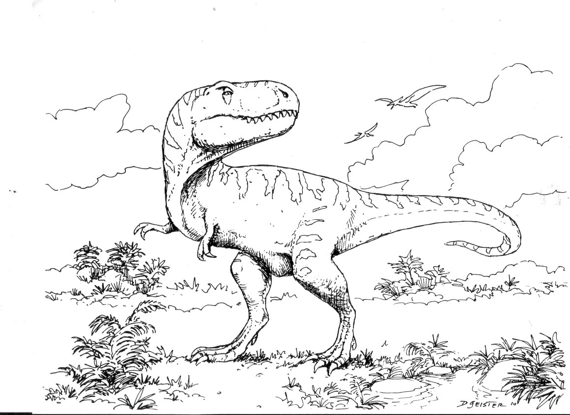 t rex coloring pages for kids - photo #16