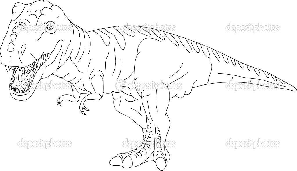 Coloriages imprimer t rex num ro 339470 - Dessin de tyrannosaure ...