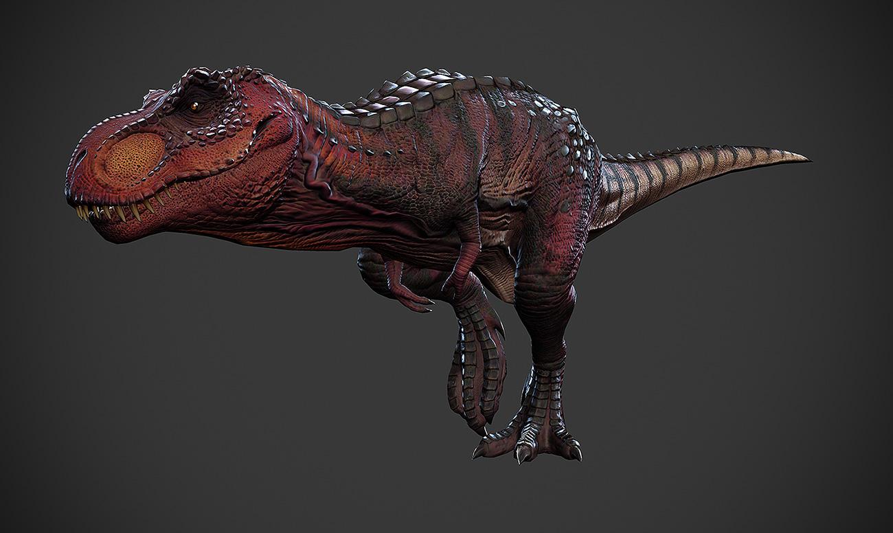Coloriage de rex en couleur - Dessin dinosaure t rex ...