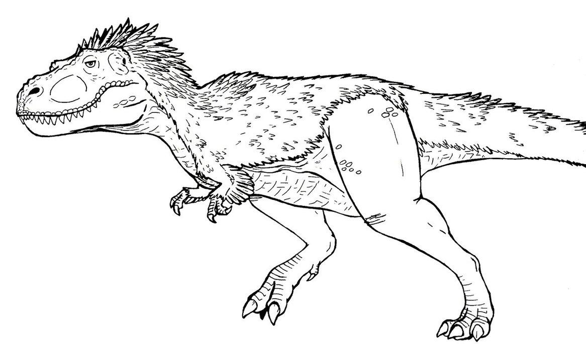 Coloriage dinosaure t rex - Coloriage de dinosaures ...