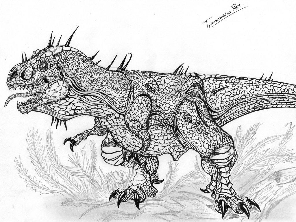 Coloriages imprimer t rex num ro 758618 - Dessin dinosaure t rex ...
