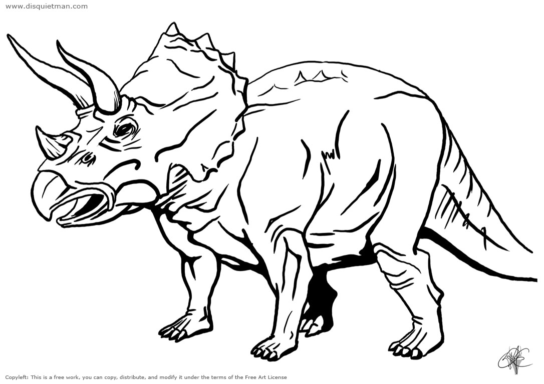 Coloriage Dinosaure Triceratops.Coloriages A Imprimer Triceratops Numero 339499