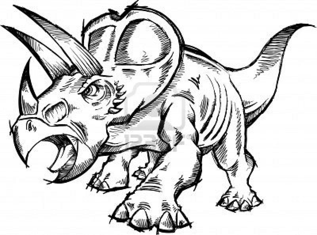 Coloriages à imprimer : Triceratops, numéro : 400649