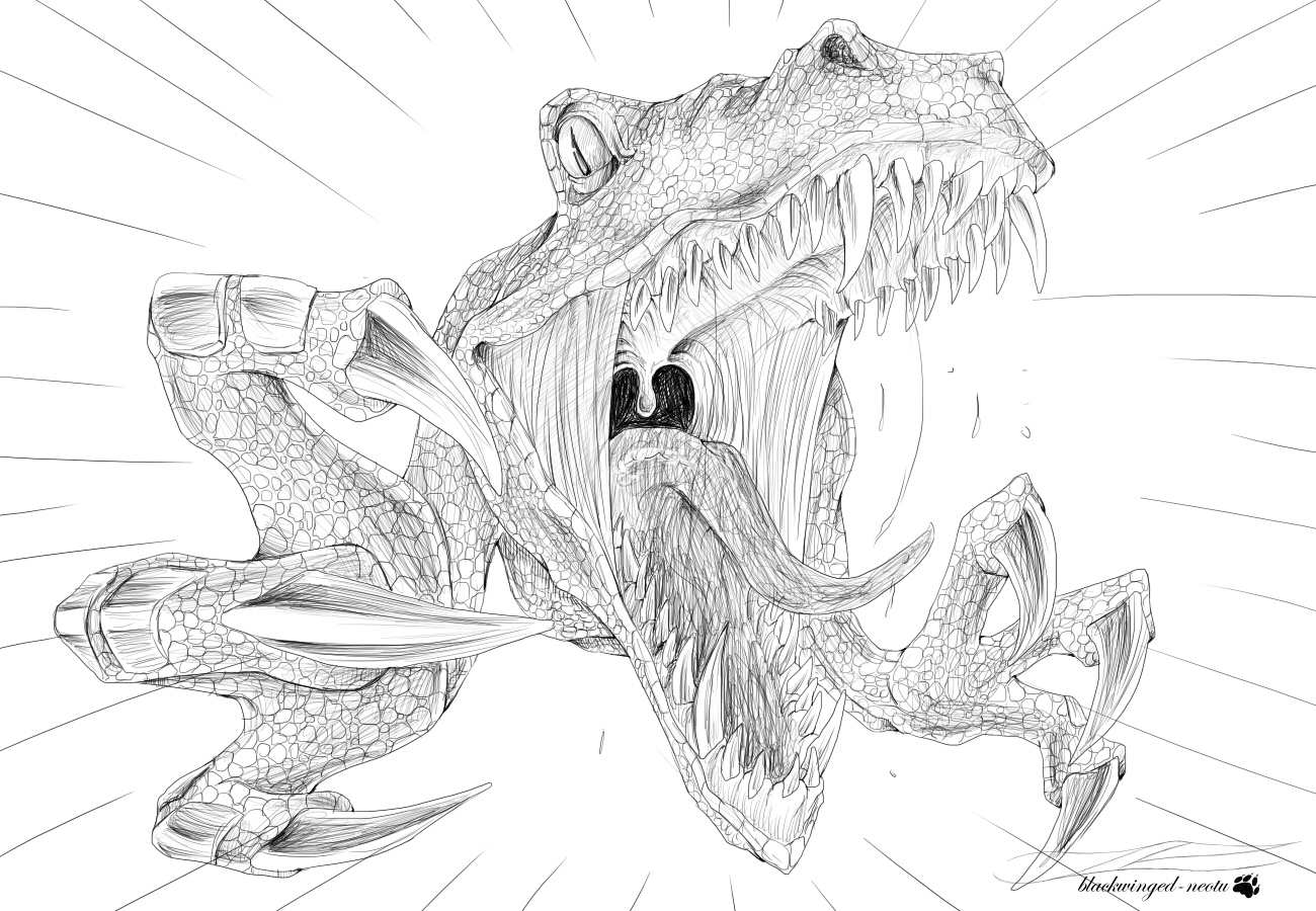 Imprimer le coloriage Vélociraptor numéro