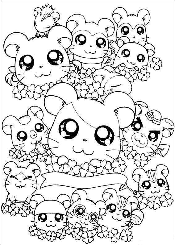 Coloriages à imprimer : Hamster, numéro : 17102