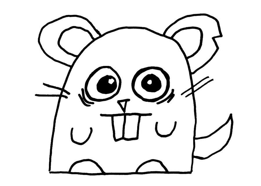 Coloriages à imprimer : Hamster, numéro : 3411