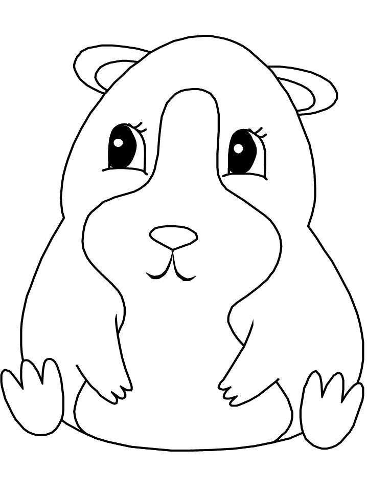 Coloriages à imprimer : Hamster, numéro : 53955