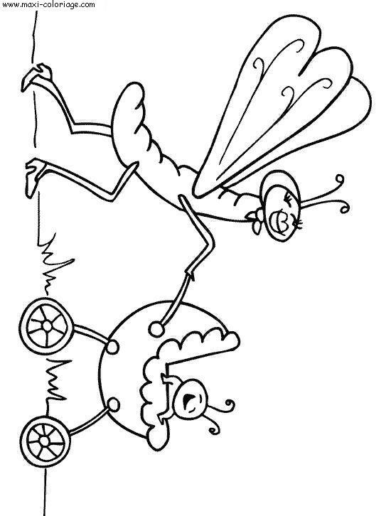 Coloriages à imprimer : Insectes, numéro : 23816