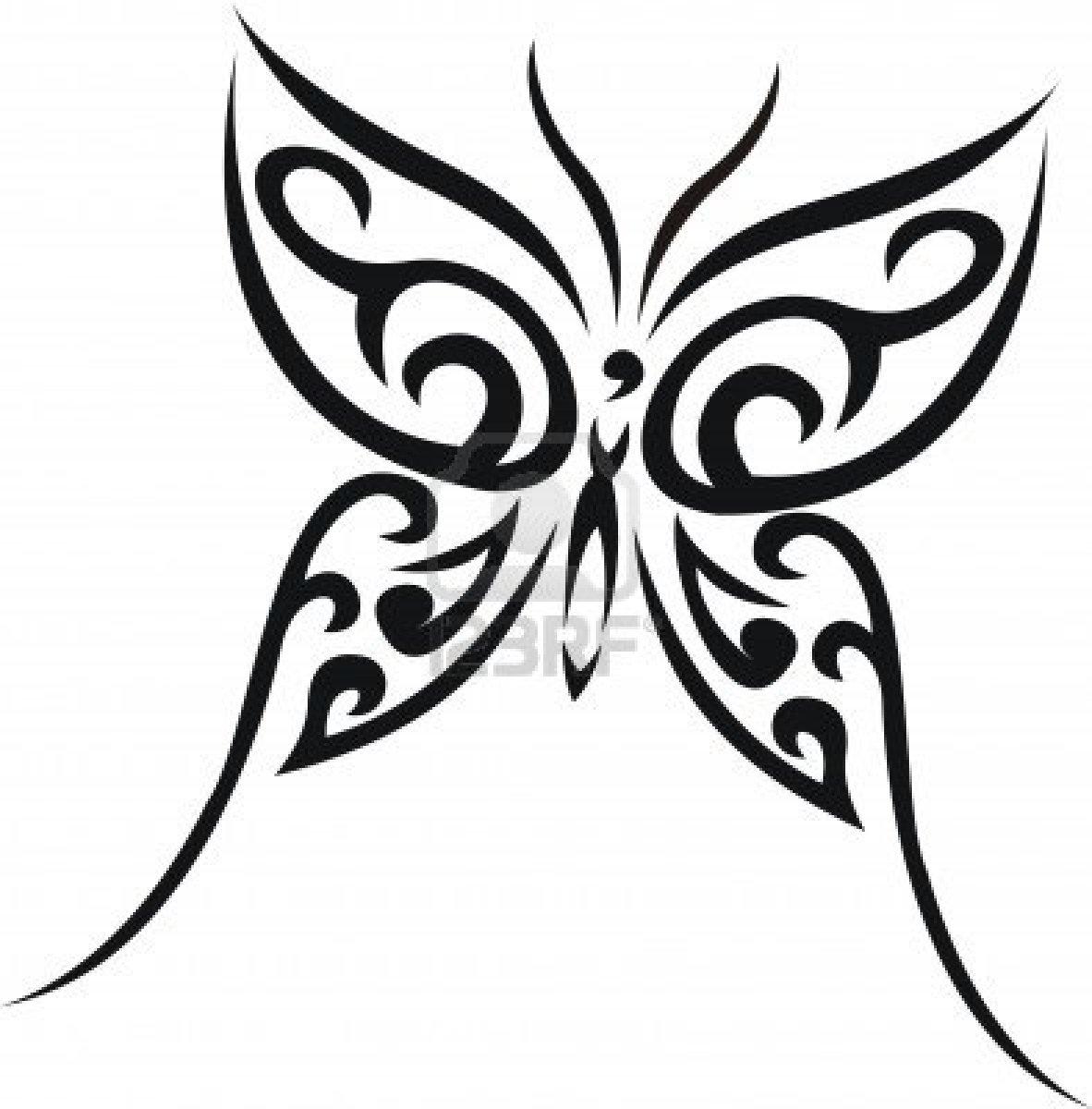 Dessins en couleurs imprimer papillon num ro 22758 - Tribal papillon ...