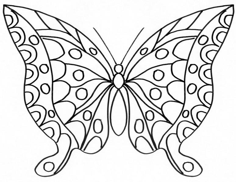 Coloriages imprimer papillon num ro 755767 - Coloriage papillon imprimer ...