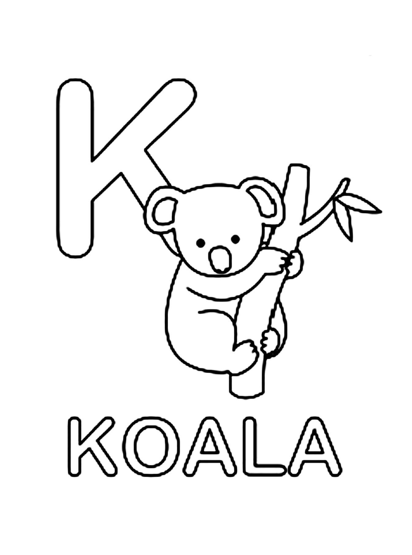 Coloriages à imprimer : Koala, numéro : 39137287