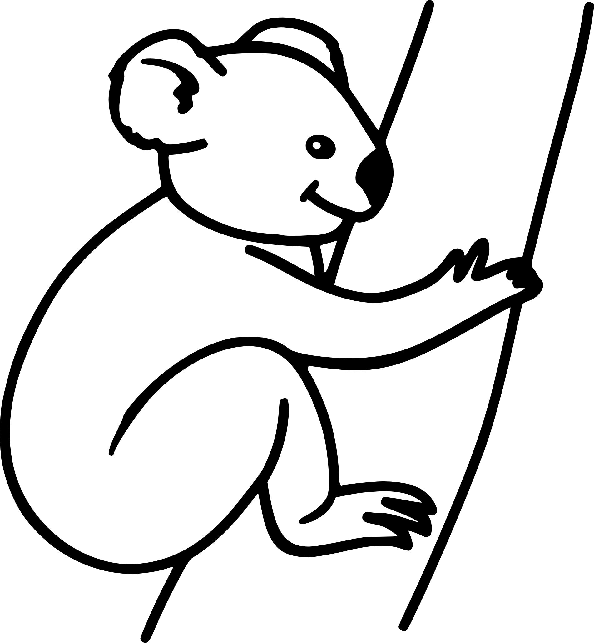 Coloriages à imprimer : Koala, numéro : 762d8efe