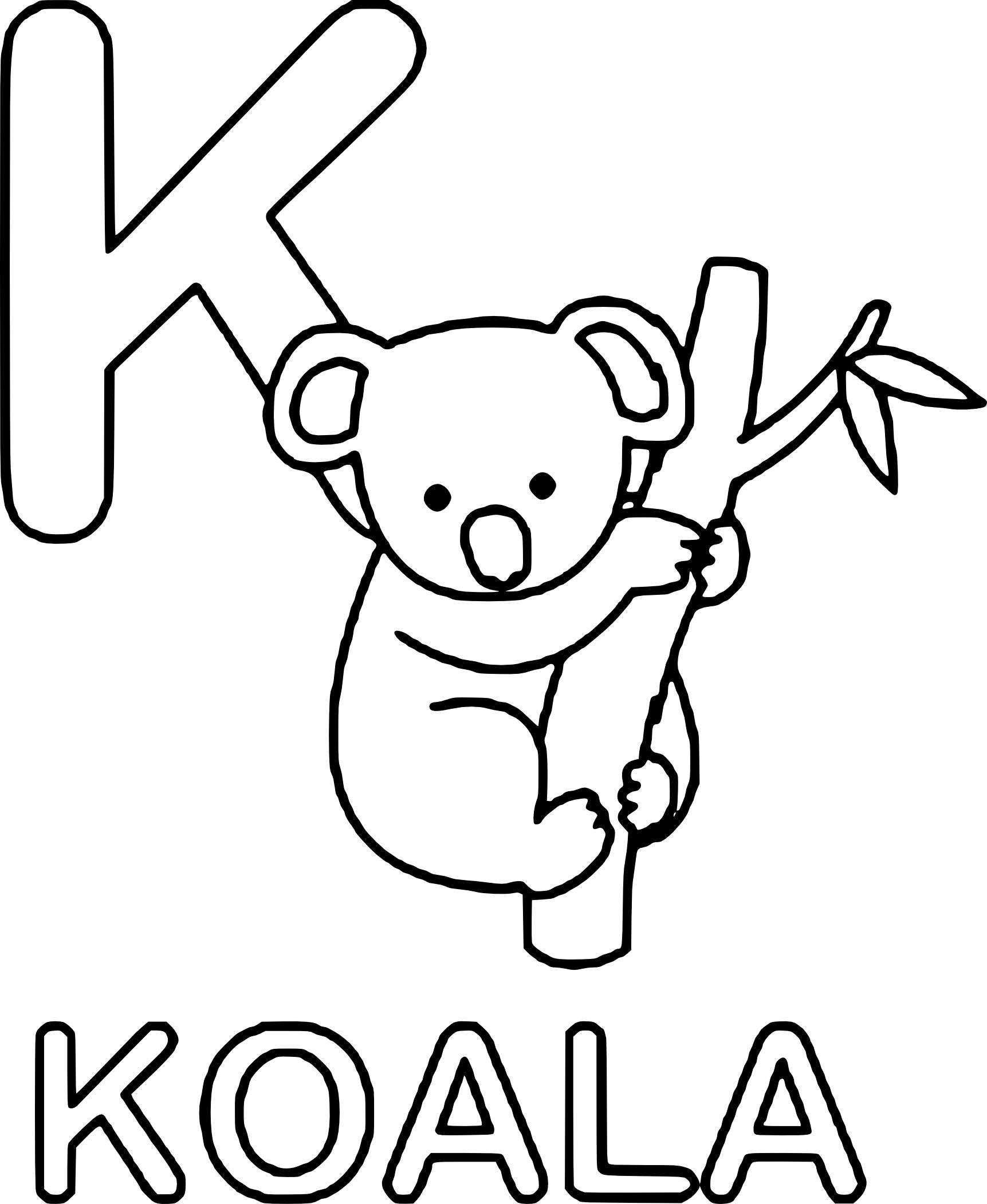Coloriages à imprimer : Koala, numéro : 81bd6939