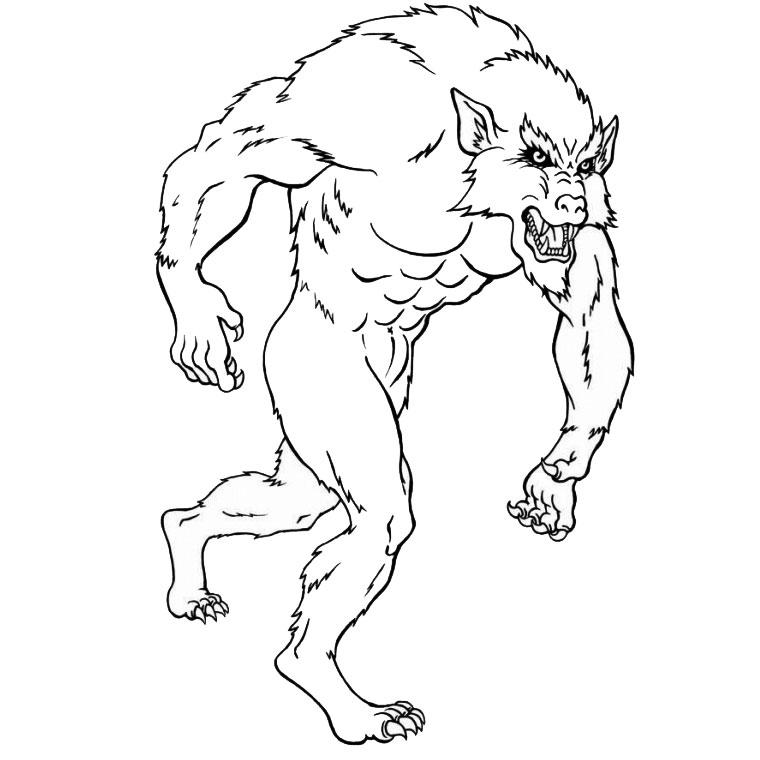Coloriages à imprimer : Loup, numéro : 16840