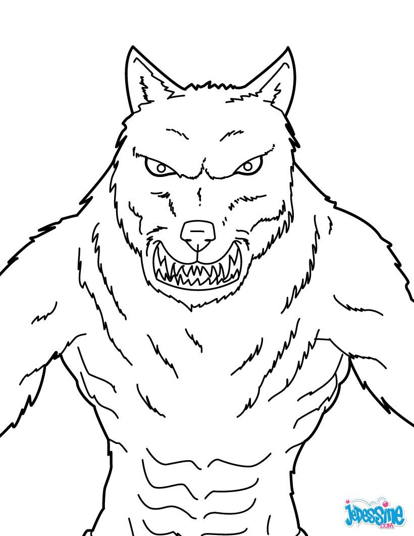 Coloriages à imprimer : Loup, numéro : 2a97a453