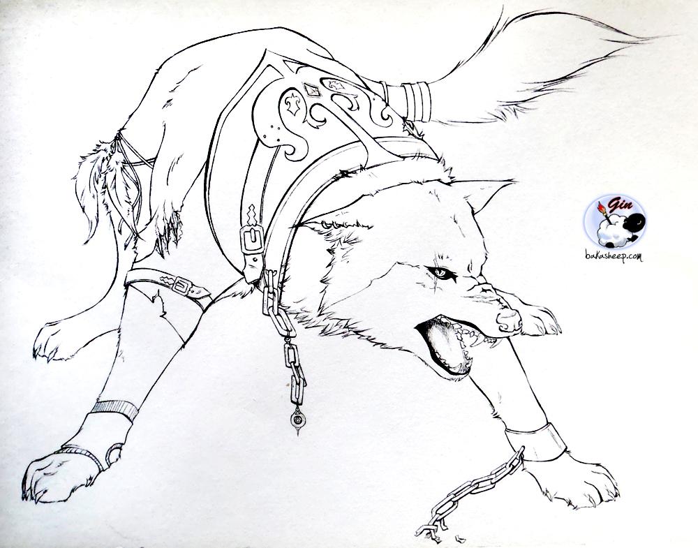Dessin de loup - Loup a dessiner ...
