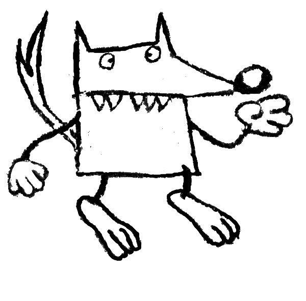 Coloriages à imprimer : Loup, numéro : 3999