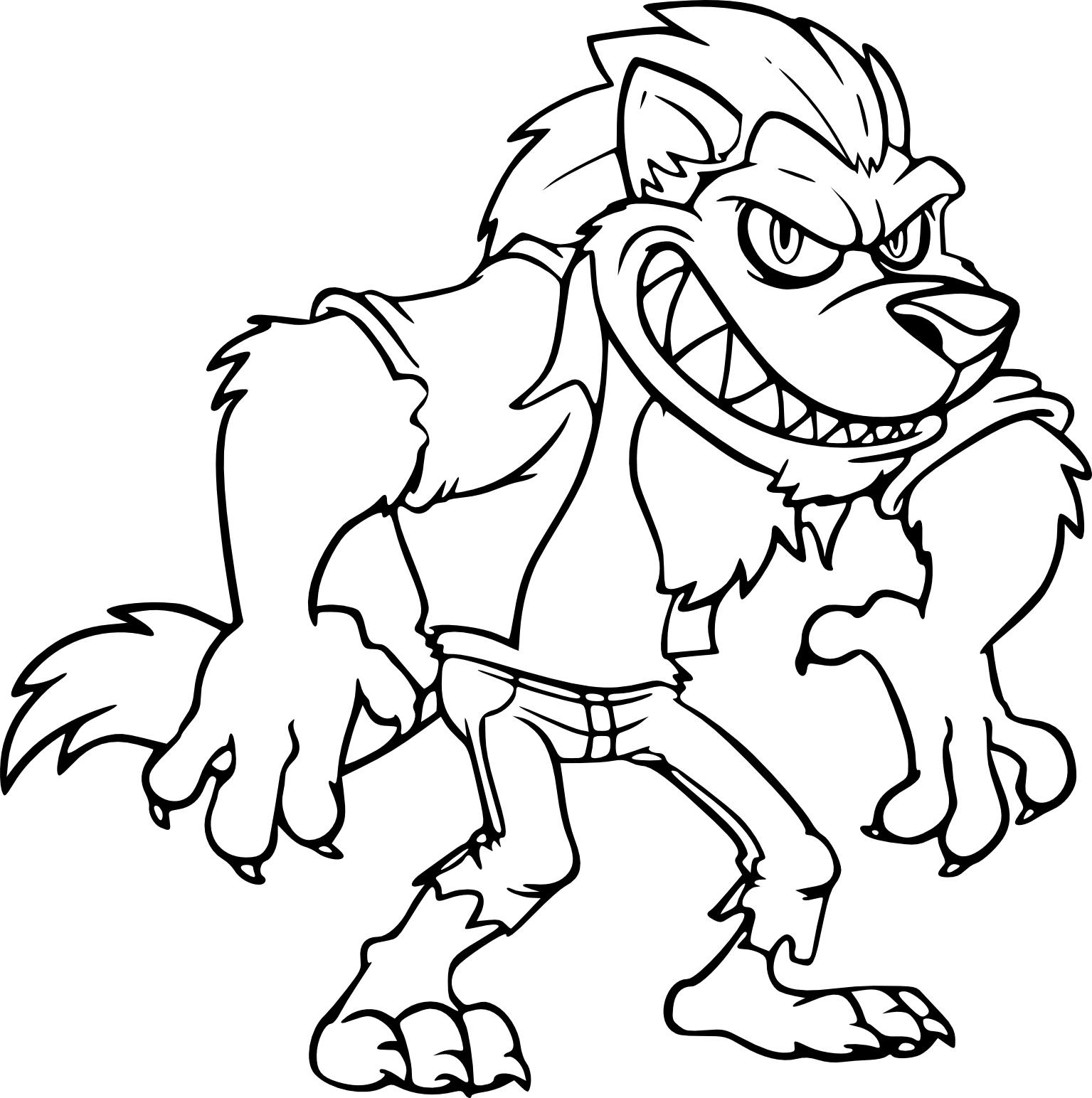 Coloriages à imprimer : Loup, numéro : 4dde07a1