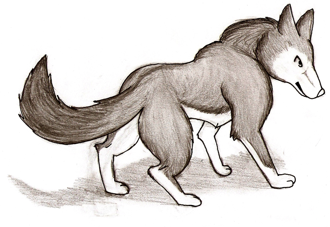 dessin manga loup