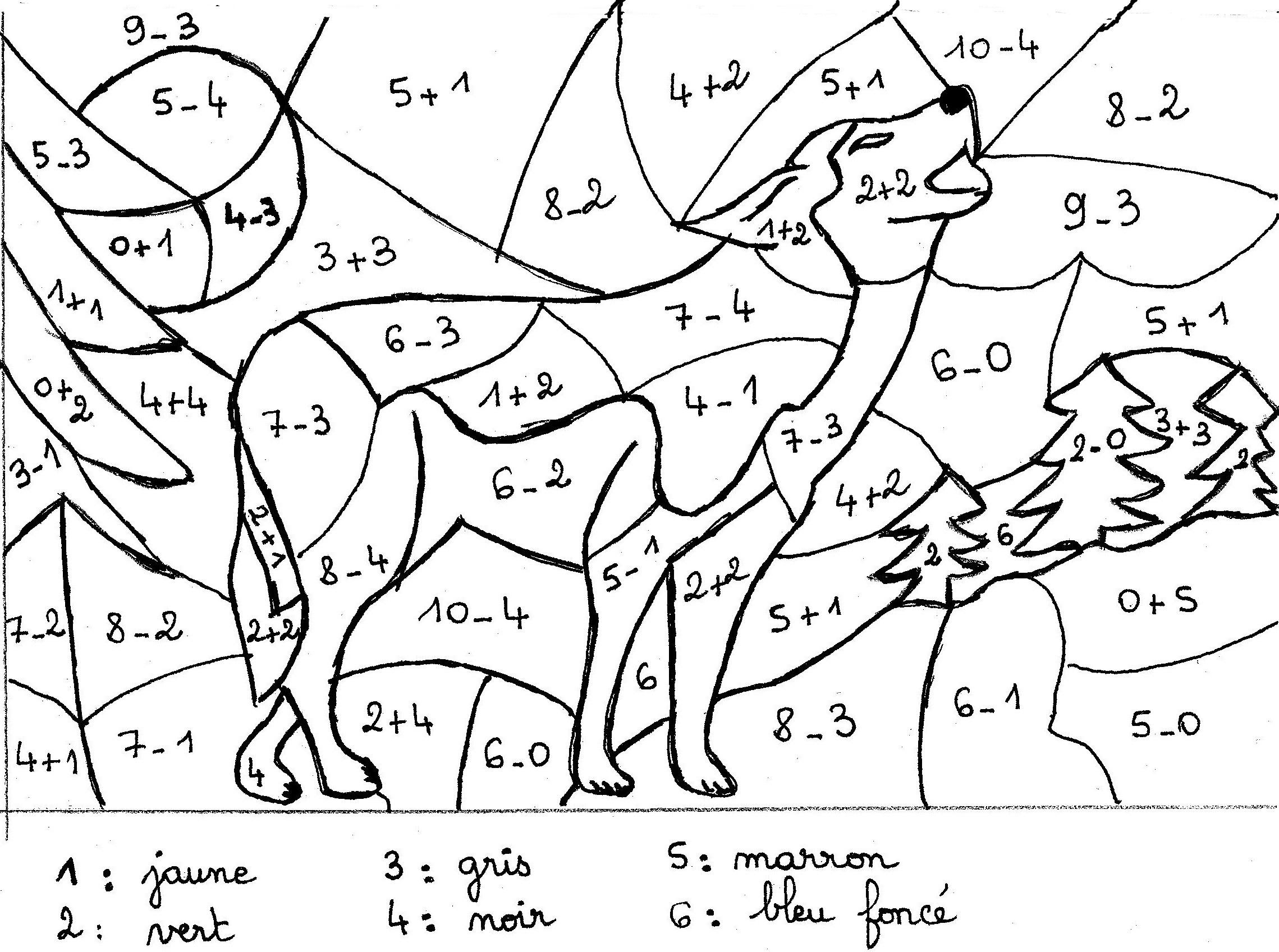 Coloriages à imprimer : Loup, numéro : 764fffe9
