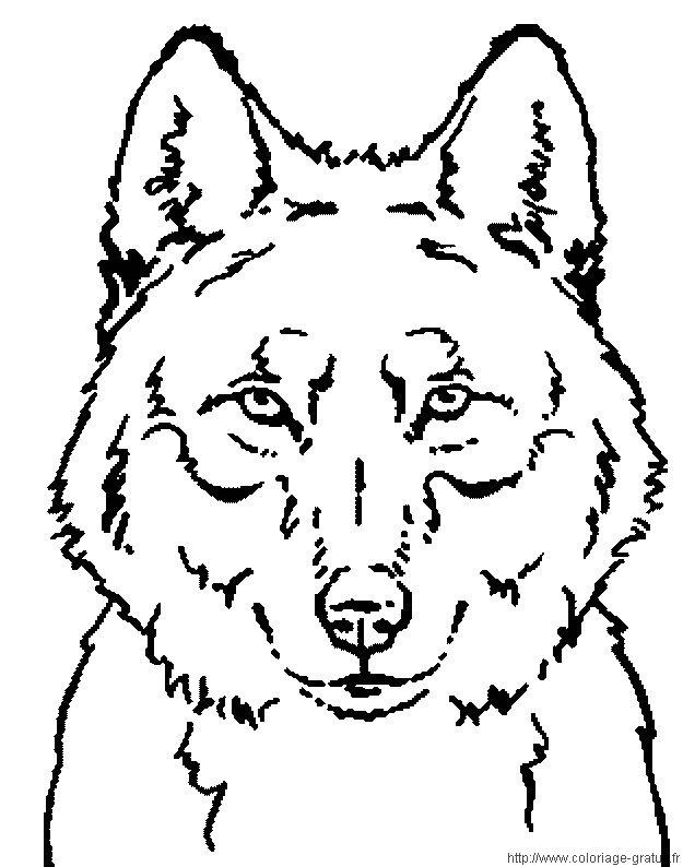 Coloriages à imprimer : Loup, numéro : 7801