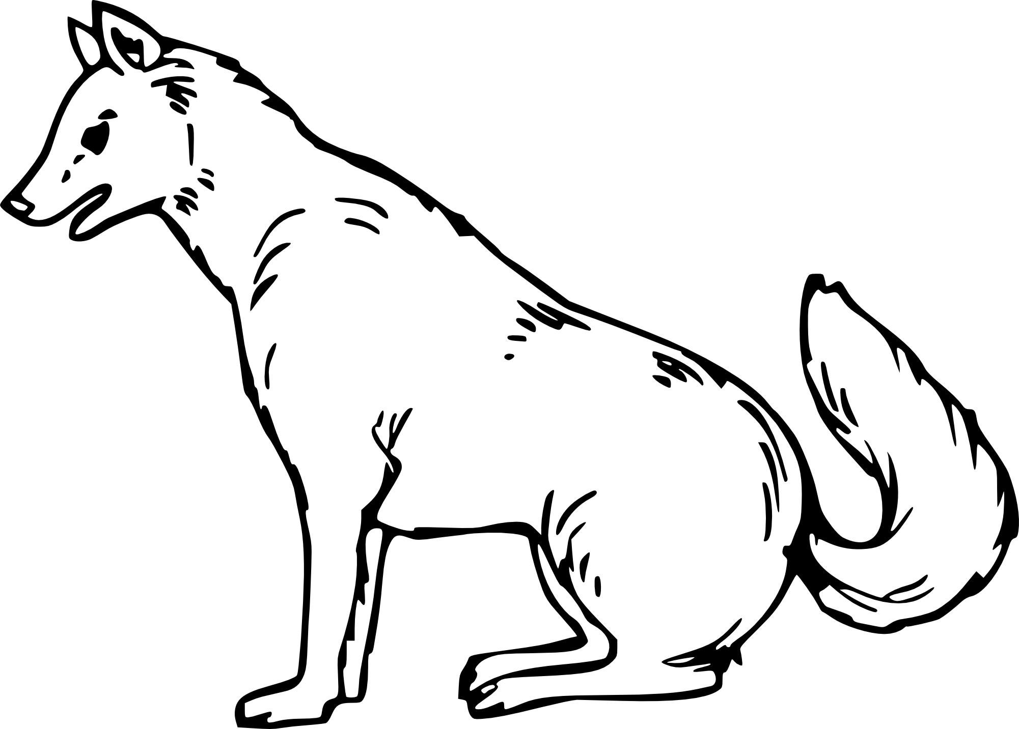 Coloriages à imprimer : Loup, numéro : e638e56f