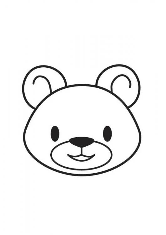 Dessins en couleurs imprimer ours num ro 136835 - Scimmia faccia da colorare pagine da colorare ...
