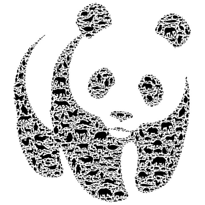 Coloriages imprimer panda num ro 114487 - Dessin animaux noir et blanc ...