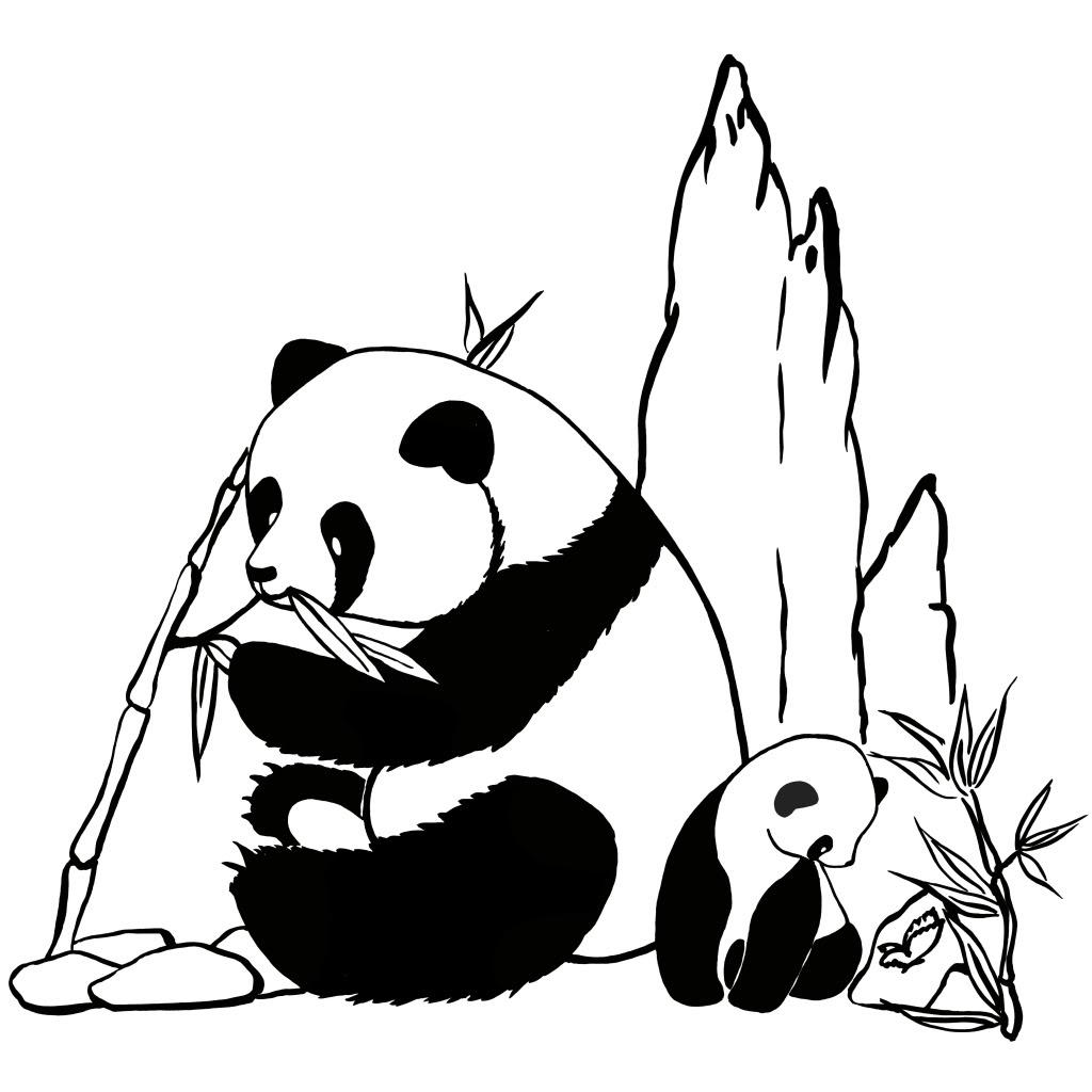 Imprimer le coloriage Panda numéro