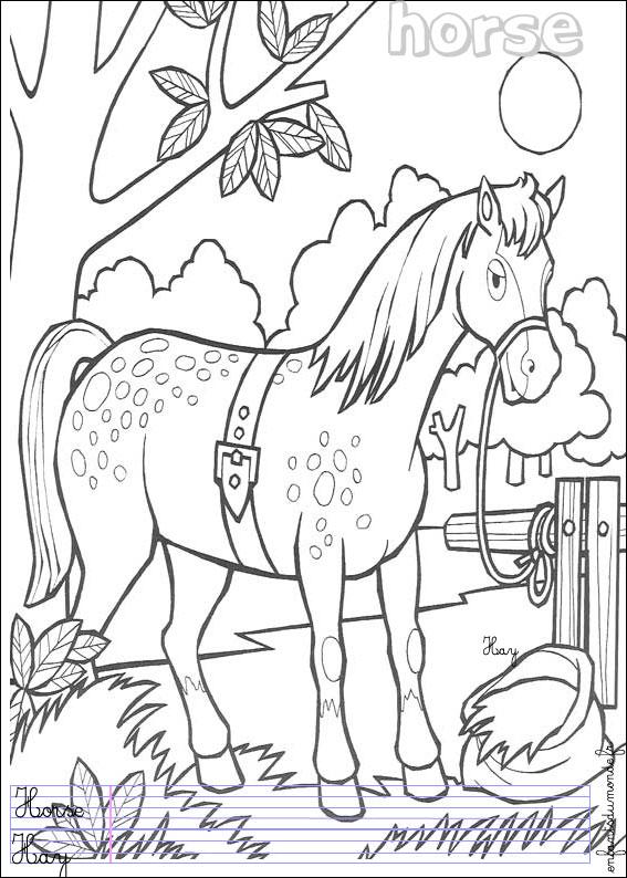 Dessins en couleurs imprimer poney num ro 19329 - Coloriage de chevaux a imprimer gratuit ...