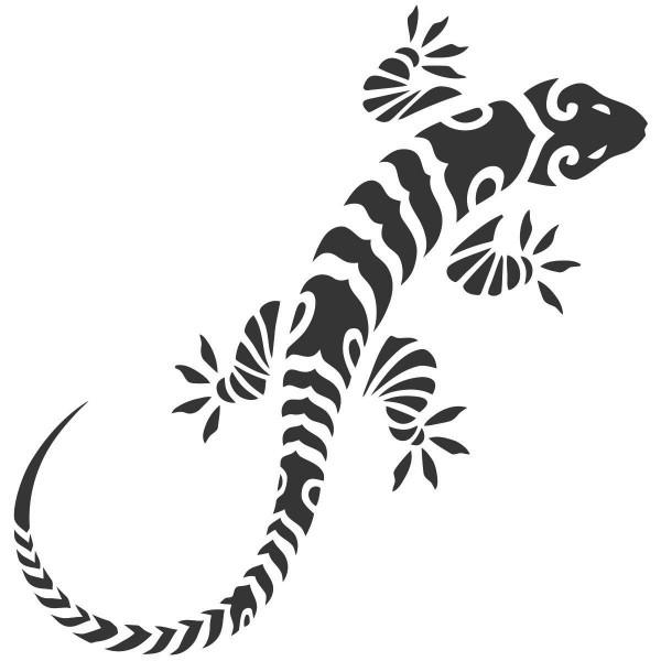 Coloriage &224 Imprimer  Animaux Reptiles L&233zard Num&233ro